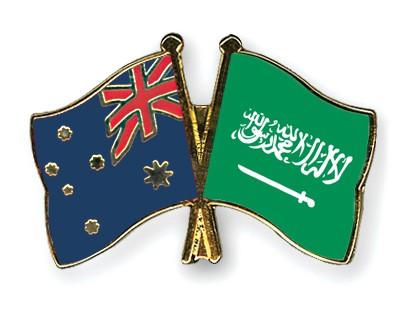 Special Offer Crossed Flag Pins Australia-Saudi-Arabia
