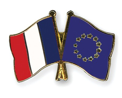 Special Offer Crossed Flag Pins France-European-Union