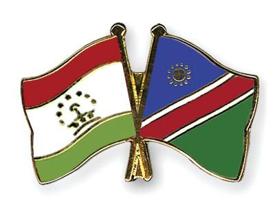 Crossed Flag Pins Tajikistan-Namibia