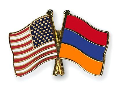 Crossed Flag Pins USA-Armenia
