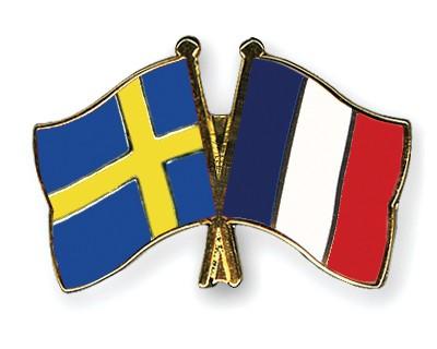 Special Offer Crossed Flag Pins Sweden-France