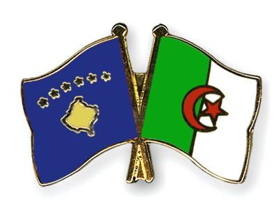 Crossed Flag Pins Kosovo-Algeria
