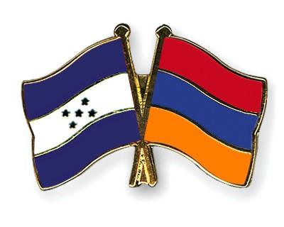 Crossed Flag Pins Honduras-Armenia