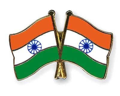 Crossed Flag Pins India-India