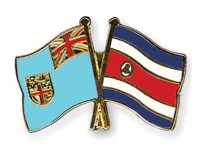 Crossed Flag Pins Fiji-Costa-Rica