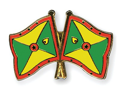 Crossed Flag Pins Grenada-Grenada