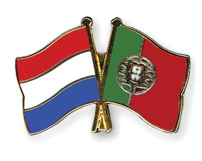 Special Offer Crossed Flag Pins Netherlands-Portugal