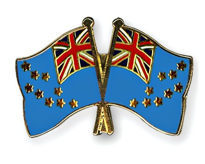 Crossed Flag Pins Tuvalu-Tuvalu