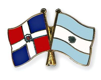 Crossed Flag Pins Dominican-Republic-Argentina