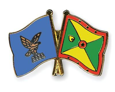 Crossed Flag Pins Friuli-Venezia-Giulia-Grenada