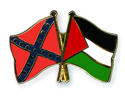 Crossed Flag Pins Confederate-battle-Palestine