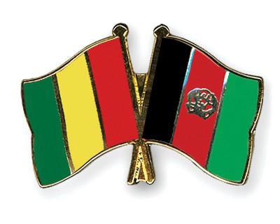 Crossed Flag Pins Guinea-Afghanistan