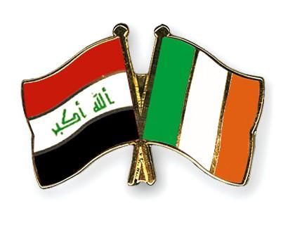 Crossed Flag Pins Iraq-Ireland