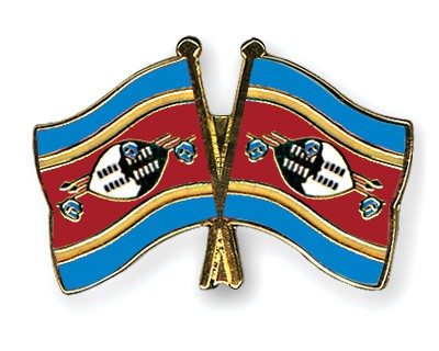 Crossed Flag Pins Swaziland-Swaziland