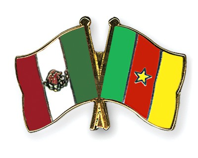 Crossed Flag Pins Mexico-Cameroon