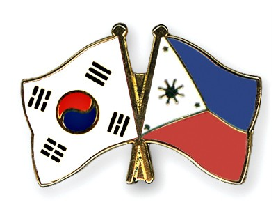 Crossed Flag Pins South-Korea-Philippines