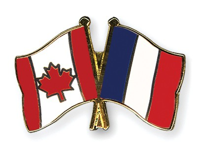 Special Offer Crossed Flag Pins Canada-France