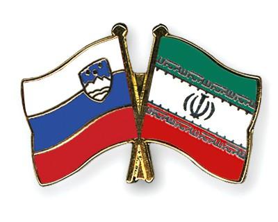 Crossed Flag Pins Slovenia-Iran