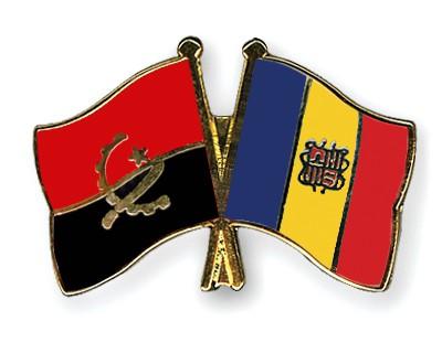 Crossed Flag Pins Angola-Andorra