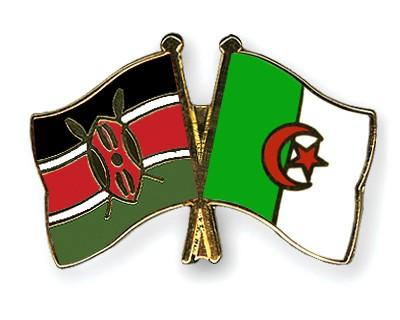 Crossed Flag Pins Kenya-Algeria