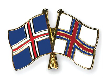 Special Offer Crossed Flag Pins Iceland-Faroe Islands
