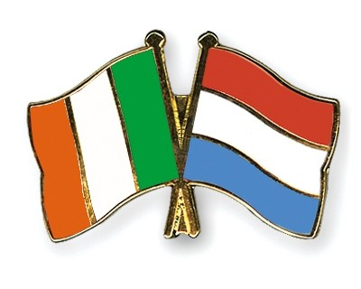 Special Offer Crossed Flag Pins Ireland-Luxembourg