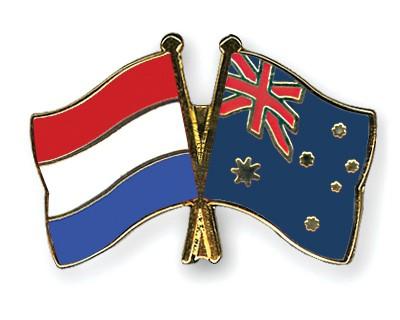 Special Offer Crossed Flag Pins Netherlands-Australia