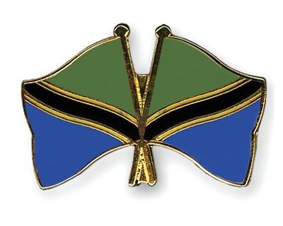 Crossed Flag Pins Tanzania-Tanzania