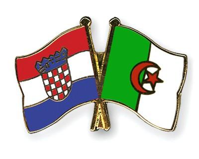 Crossed Flag Pins Croatia-Algeria
