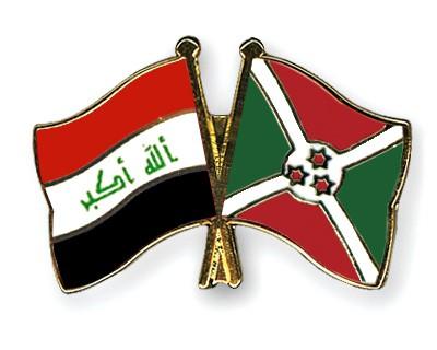 Crossed Flag Pins Iraq-Burundi
