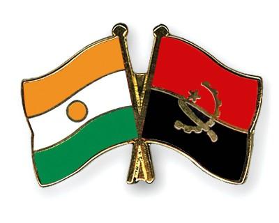 Crossed Flag Pins Niger-Angola