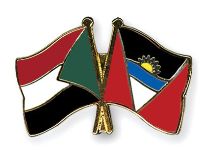 Crossed Flag Pins Sudan-Antigua-and-Barbuda