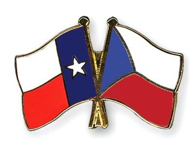 Crossed Flag Pins Texas-Czech-Republic