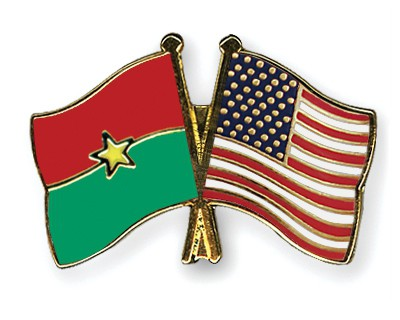 Special Offer Crossed Flag Pins Burkina-Faso-USA