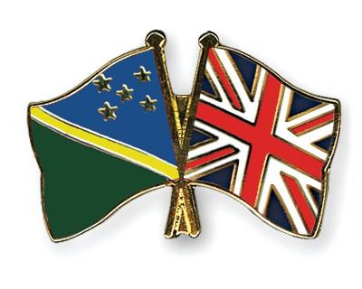 Crossed Flag Pins Solomon-Islands-Great-Britain