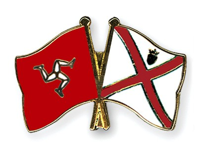 Crossed Flag Pins The-Isle-of-Man-Jersey