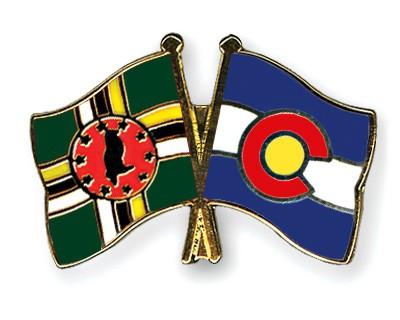Crossed Flag Pins Dominica-Colorado