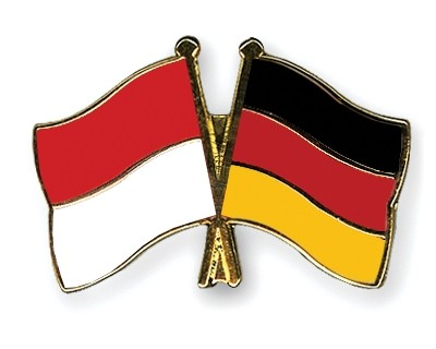 Special Offer Crossed Flag Pins Indonesia-Germany