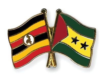 Crossed Flag Pins Uganda-Sao-Tome-and-Principe