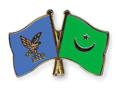 Crossed Flag Pins Friuli-Venezia-Giulia-Mauritania