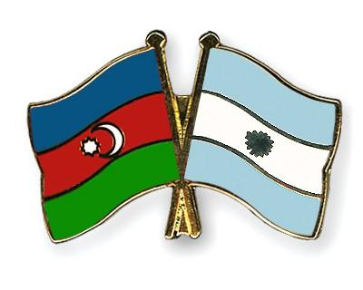 Crossed Flag Pins Azerbaijan-Argentina