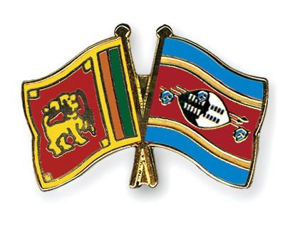 Crossed Flag Pins Sri-Lanka-Swaziland