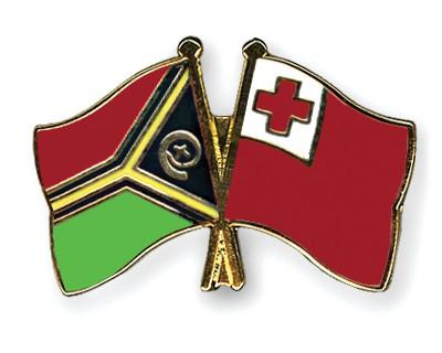 Crossed Flag Pins Vanuatu-Tonga