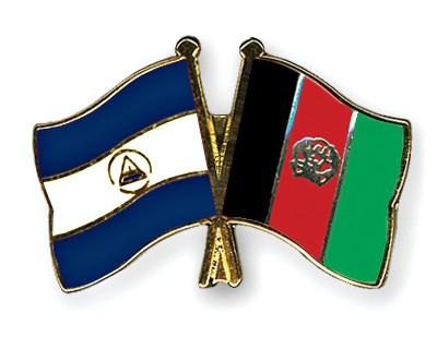Crossed Flag Pins Nicaragua-Afghanistan
