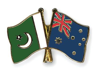 Crossed Flag Pins Pakistan-Australia