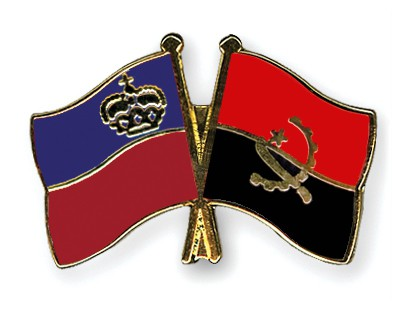 Crossed Flag Pins Liechtenstein-Angola
