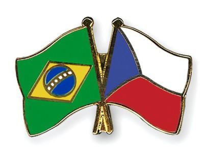 Crossed Flag Pins Brazil-Czech-Republic