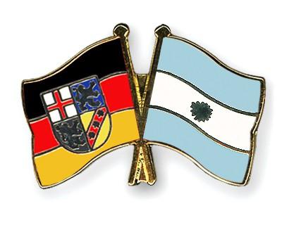 Crossed Flag Pins Saarland-Argentina