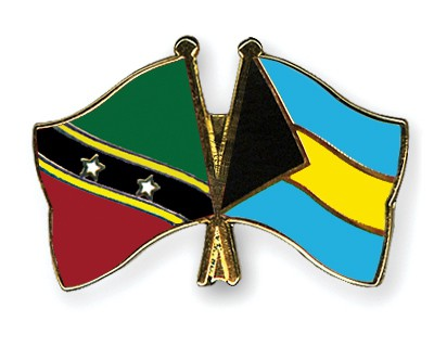 Crossed Flag Pins Saint-Kitts-and-Nevis-Bahamas