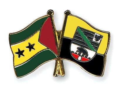 Crossed Flag Pins Sao-Tome-and-Principe-Saxony-Anhalt